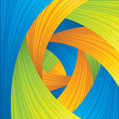 Abstract Blue Green Yellow Strokes Background