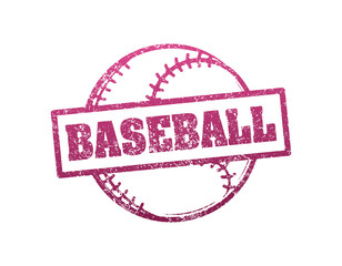 Baseball grunge style rubber stamp. Vector illustration.