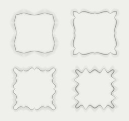 Set of frames with delicate gradient with transparent shadows.
