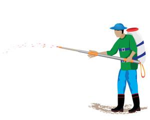 agriculturist sprays vector design