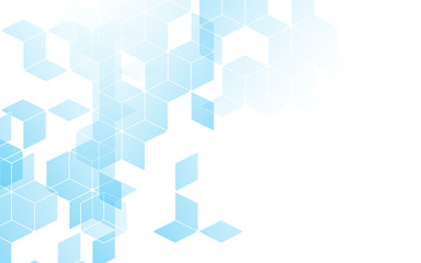 Abstract diamond square box background blue color with copy space