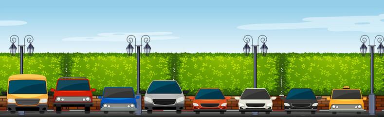 Car park full of cars