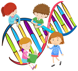 Kids and human DNA