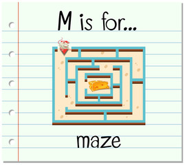 Flashcard letter M is for maze