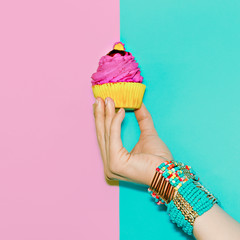 Stylish wrist accessories. Vanilla summer trend