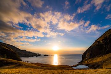 大野亀の夕日