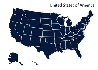 Map of U.S.A.