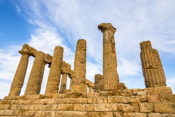 Temple of Juno Lacinia. Valley of the Temples. Agrigento, Sicily, Italy