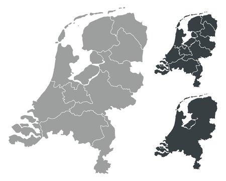 Detalied Netherlands map