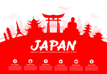 Beautiful Japan Travel Landmarks.
