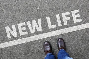New life beginning beginnings future past goals success decision