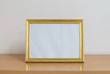Picture frames on the table