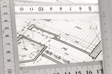 blueprint & rulers