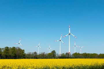 Windkraft Anlagen des Bioenergieparkes Saerbeck