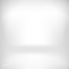 Empty White Studio Backdrop Interior  in Vector EPS 10