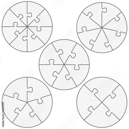round puzzle templates\