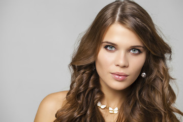 Beauty portrait of young attractive model