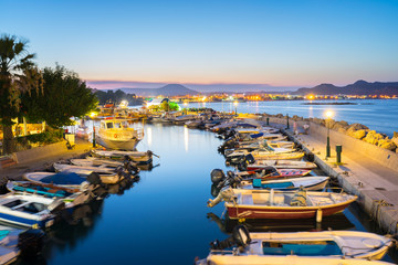 Faliraki Harbour at Night Rhodes