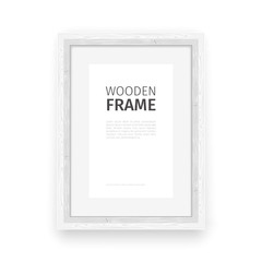 Wooden Rectangle Frame White