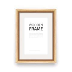 Wooden Rectangle Frame Maple