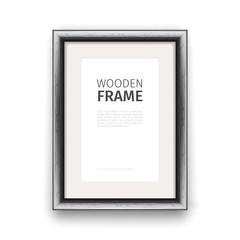 Wooden Rectangle Frame Dark
