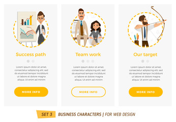 Business characters set.