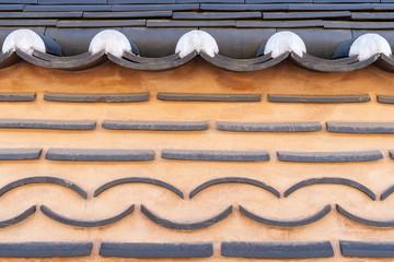 Traditional korean brick wall background