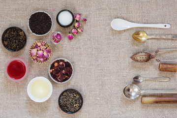 Different kinds of tea