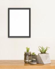 Succulent and frame mockup