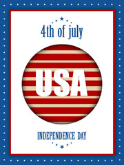 creative vector abstract for 4th of July with nice and creative illustration in a background.