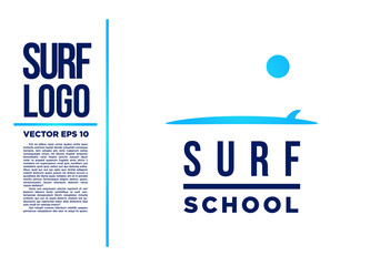 Surf Logo Wave vector logotype illustration blue