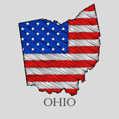 State Ohio - vector illustration.
