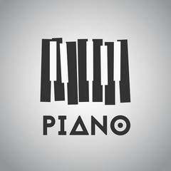 Piano picture with piano keys on the white.