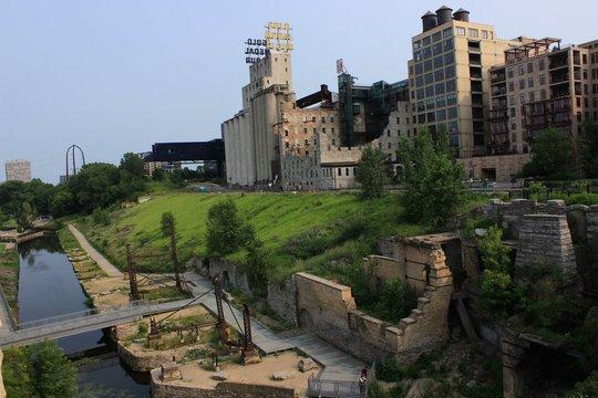 Mill City Museum landmark in Minneapolis, MN