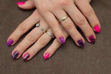 Obraz Przedłużanie paznokci  - fototapety do salonu