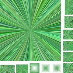 Green ray burst background set