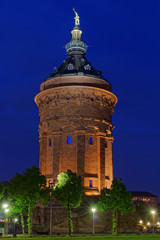 Water tower in Mannheim in Germany.