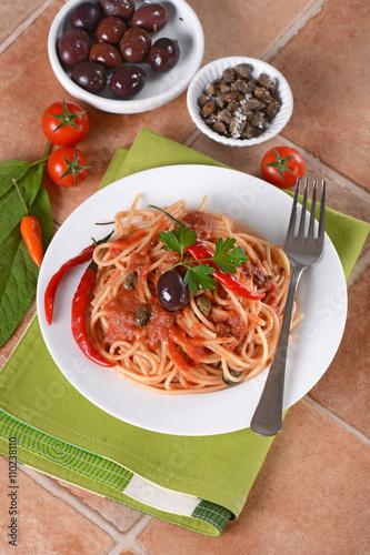 Pasta alla puttanesca ricetta italiana