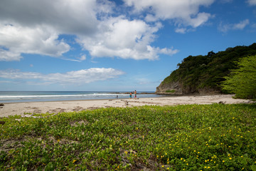Beach landscape in Nicaragua