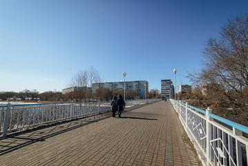 ULYANOVSK, RUSSIA. Bridge over river Sviyaga