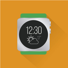 smart Watch flat in color backdrop