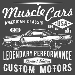 T-shirt typography design, retro car vector, printing graphics, typographic vector illustration, vintage car graphic design for label or t-shirt print, Badge, Applique