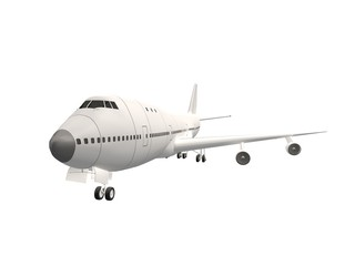 passenger airplane isolate on white ,3d