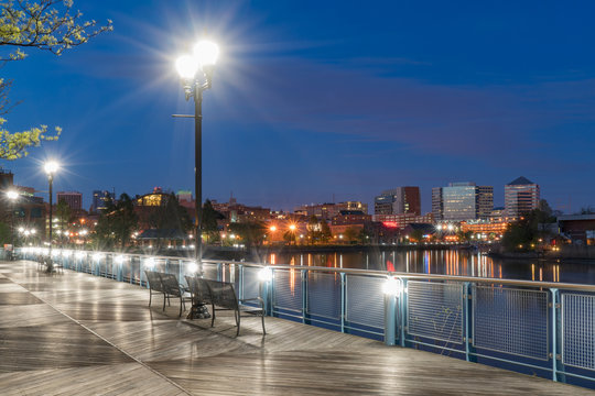 Wilmington Delaware Riverfront at Night