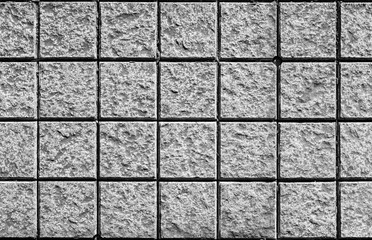 gray stone tiles background black and white