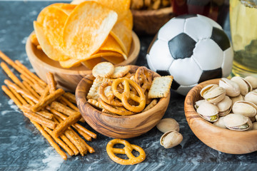 Selection of party food for UEFA champions league
