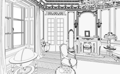 Gründerzeit Salon (Skizze)
