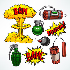 set of explosive devices