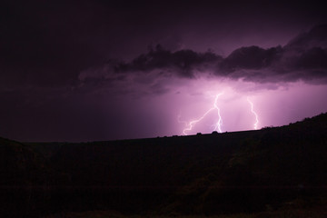 Clouds and thunder lightnings
