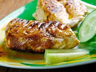 Chicken with sauce piri piri